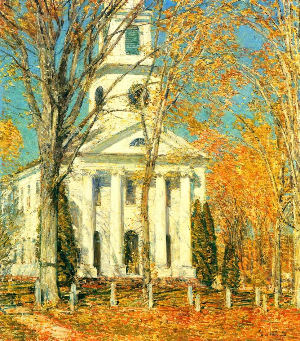 The Church of Old Lyme, Connecticut [2] - Hassam